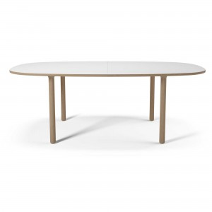 YACHT Dining table white laminate
