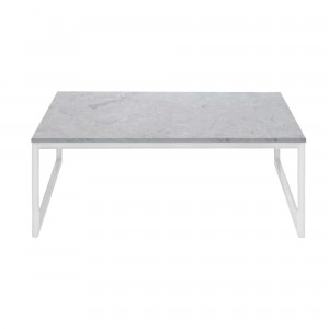 Coffee table COMO 60 x 60 - White marble