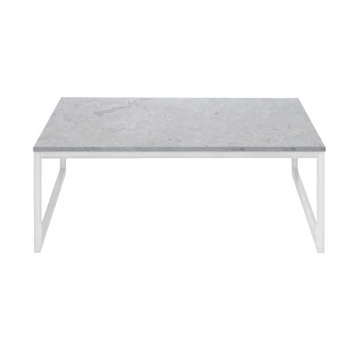 table basse como 60 x 60 en marbre blanc bolia. Black Bedroom Furniture Sets. Home Design Ideas