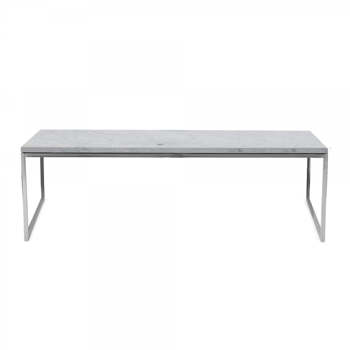Como Coffee Table 60 X 120 In White Marble Bolia