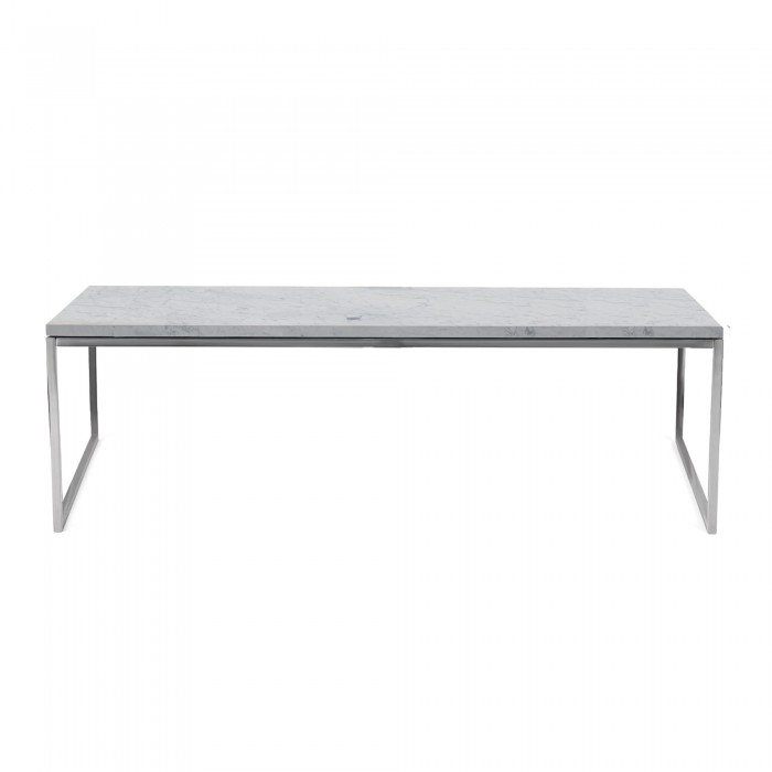 Como Marble Coffee Table: COMO Coffee Table 60 X 120 In White Marble