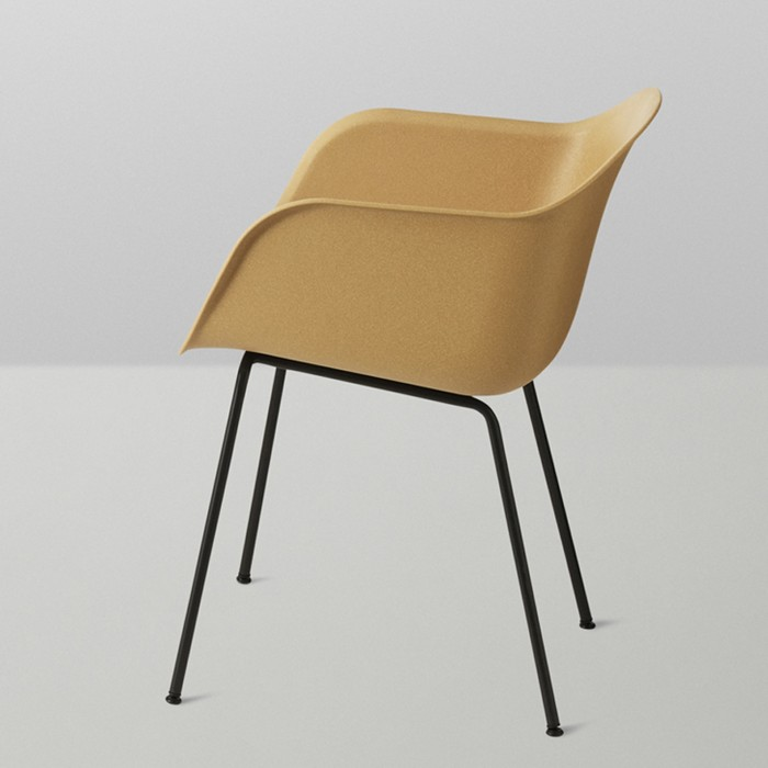 Chaise FIBER tube base - MUUTO