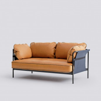 CAN sofa 2 seaters - 1 Silk cognac