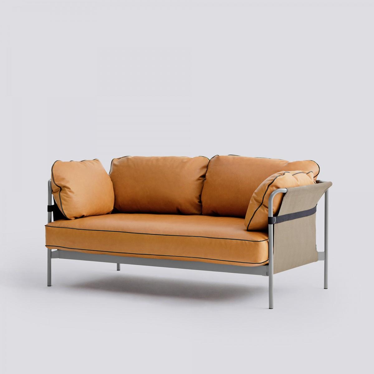 Can Sofa 2 Seaters 3 Silk Cognac Hay