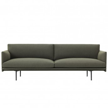 OUTLINE 3 seaters sofa - Khaki