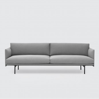 OUTLINE 3 seaters sofa - Light Grey