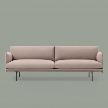 OUTLINE 3 seaters sofa - Pink