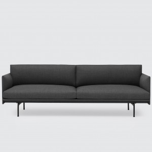 OUTLINE 3 seaters sofa - Dark grey