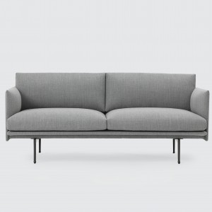 OUTLINE 2 seaters sofa - Light grey