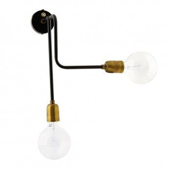 MOLECULAR Wall lamp - Black