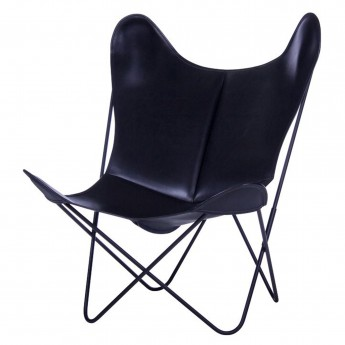AA BUTTERFLY leather armchair