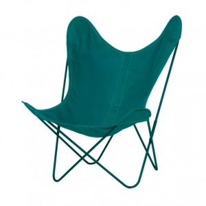 AA BUTTERFLY Algue canvas armchair