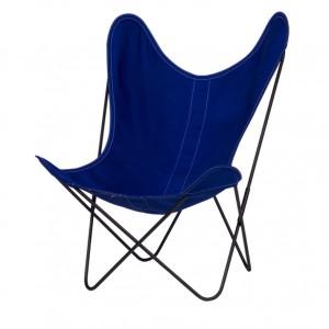 AA BUTTERFLY Ciel canvas armchair