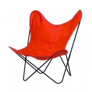AA BUTTERFLY Mandarine canvas armchair