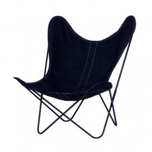 AA BUTTERFLY Nuit canvas armchair