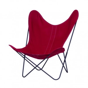 AA BUTTERFLY strawberry canvas armchair