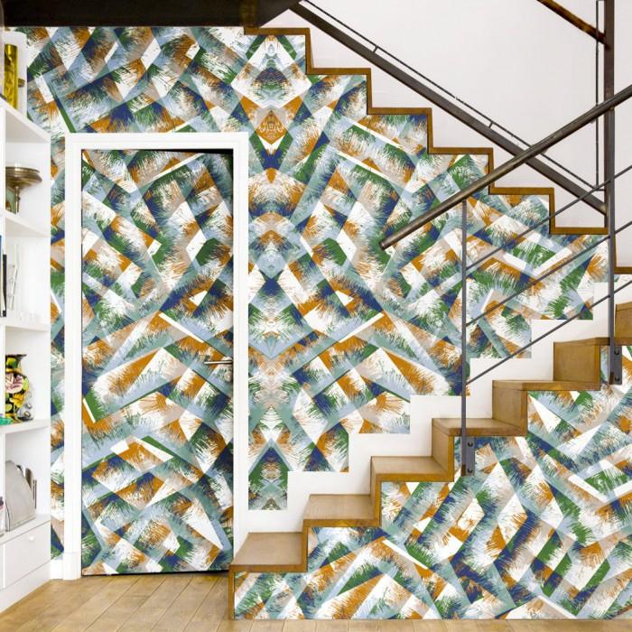 papier peint boheme wood bien fait. Black Bedroom Furniture Sets. Home Design Ideas