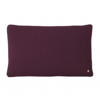 QUILT bordeaux Cushion 80 x 50 cm
