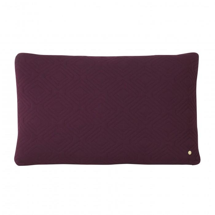 QUILT bordeaux Cushion 80 x 50 cm