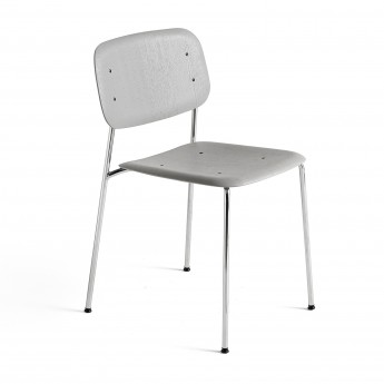 Chaise SOFT EDGE 10 gris - métal chromé