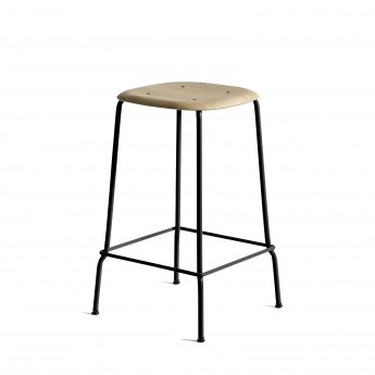 SOFT EDGE 30 H75 Bar stool - black