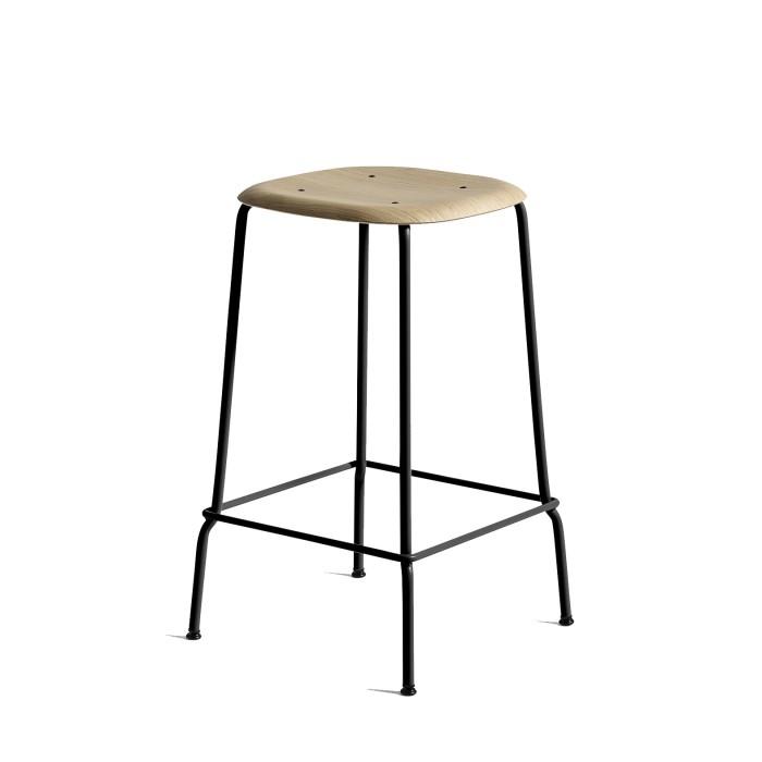 SOFT EDGE 30 H75 Bar stool - black