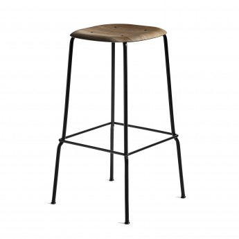 Tabouret bar SOFT EDGE 30 H75 - métal noir