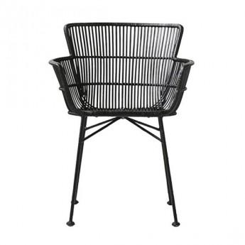 Chaise CUUN en rotin noir