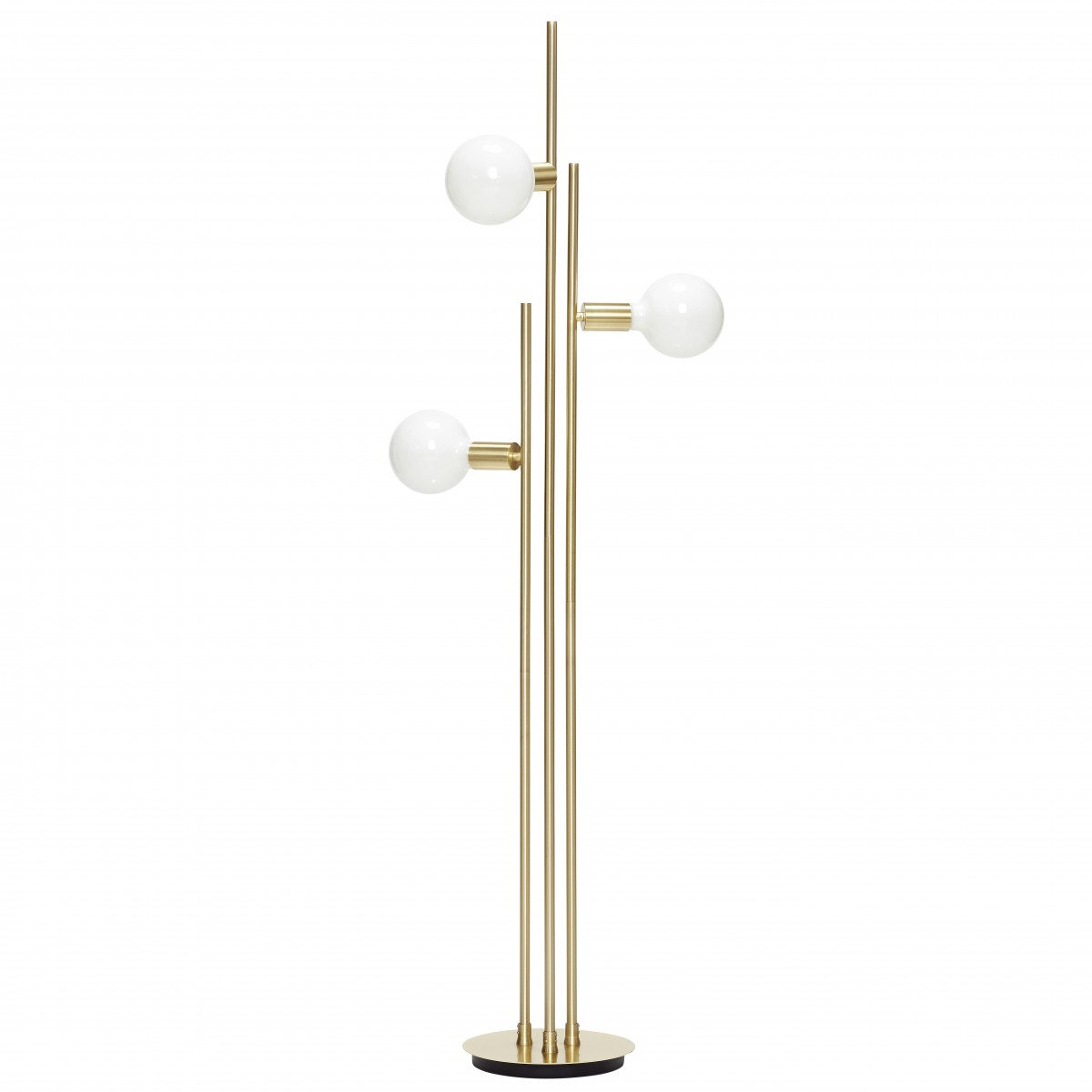 Bulb lamp in aluminium hubsch floor lamp bulb loading zoom mozeypictures Image collections