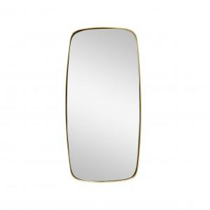 Miroir rond BRASS SQUARE