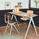 Chaise RESULT acier noir - bois clair