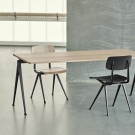 RESULT Chair black powder coated steel - clear lacquered
