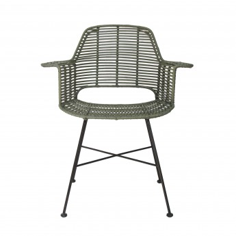 Fauteuil ROTIN olive