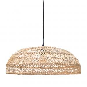 Flat wicker lamp natural