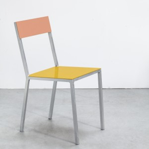 ALU chair yellow-pink