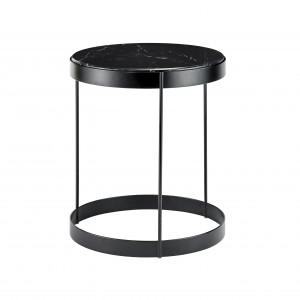 DRUM black marble coffee table