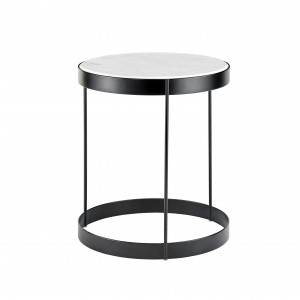 DRUM white marble coffee table
