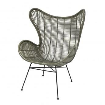 Fauteuil EGG rotin olive
