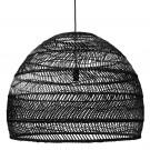 Wicker hanging lamp ball black