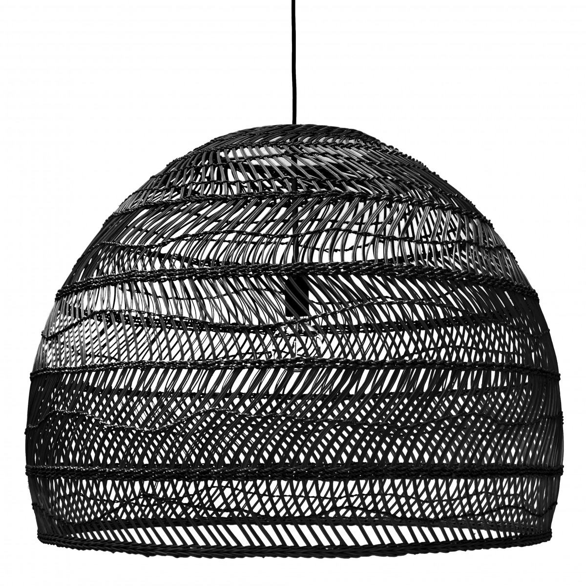 Suspension boule en osier hk living - Suspension en osier ...