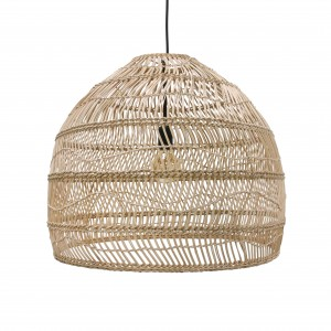 Suspension boule en osier naturel