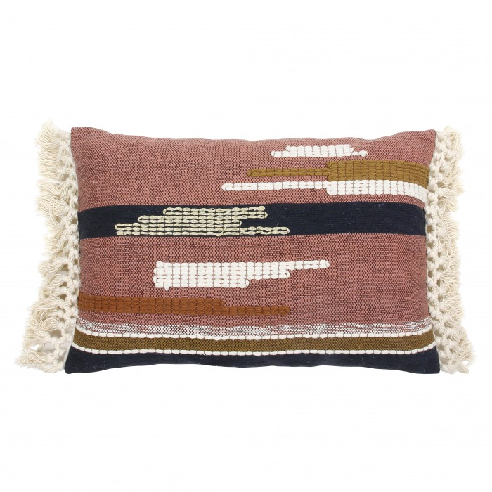 Aztec cushion with fringes
