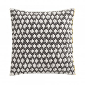 SILAÏ square grey-white cushion