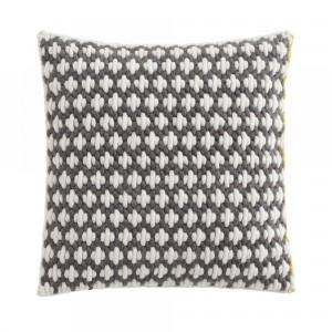 Coussin SILAÏ carré gris-blanc