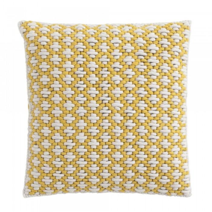 SILAÏ square yellow-yellow cushion