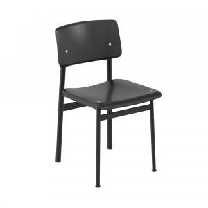 Chaise LOFT pieds noir/chêne peint