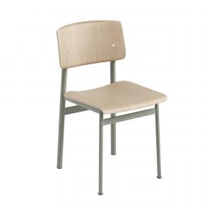 Chaise LOFT pieds vert/chêne