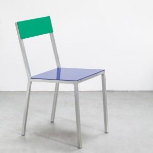 Chaise ALU bleu-vert