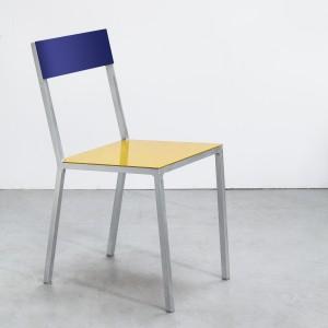 Chaise ALU jaune-bleu