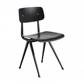 Chaise RESULT acier noir - teinté noir